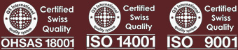 ISO 9001 ISO 14001 OHSAS 18001 Certified Quality System Logo